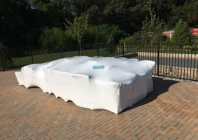 Enclave Tinton Falls 55+ Homes shrink wrapping of pool furniture