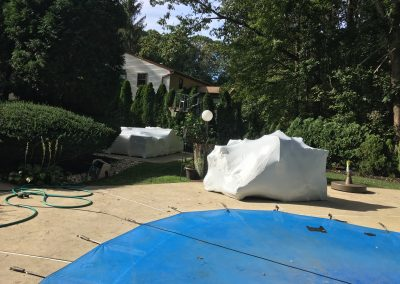 NJ Shrink Wrapping - Pool Outdoor Poll Furniture Covering 2