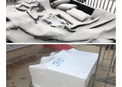 NYC Shrink Wrapping provides outdoor and rooftop furniture wrapping in New York City