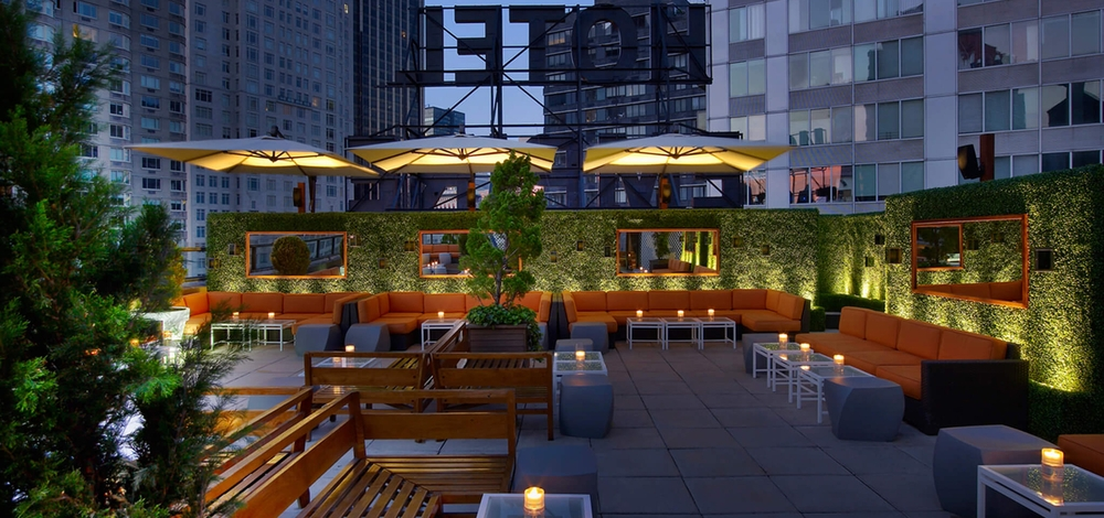 NYC Shrink Wrapping Provides Rooftop Bar Furniture Wrapping in New York City