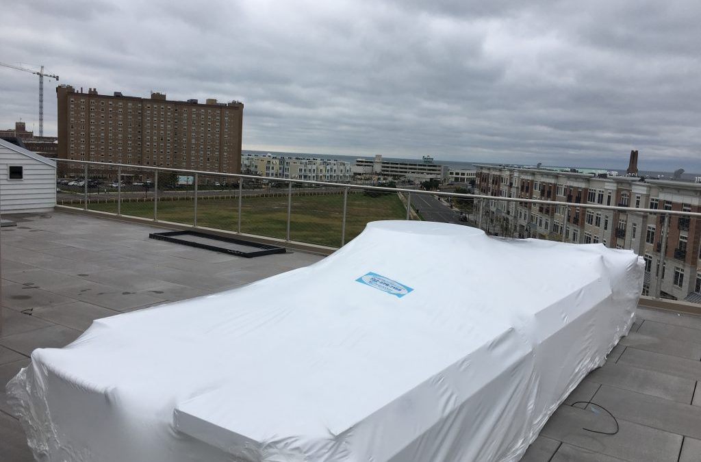 NYC Shrink Wrapping - Outdoor patio and rooftop furniture shrink wrapping in New York City